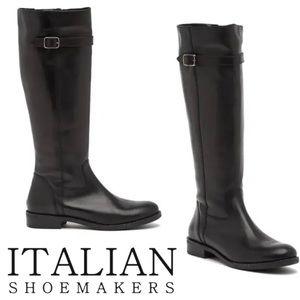 Italian Shoemakers Black Riding Boots